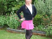 Tgirl Lucimay wearing pantyhose