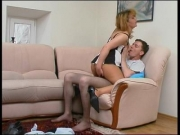 Both ella and harry wearing pantyhose while fucking - Clip 1