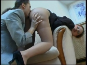 Fat ass maid in pantyhose fucked by homeowner - Clip 1
