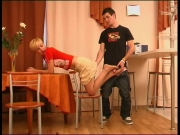 Blonde cassandra gets her nylon feet licked and gives footjob - Clip 5
