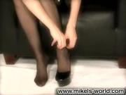 Erotische Spiele in sexy Nylons und High Heels