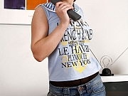 Helen pantyhose wearing woman