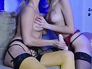 Judith&Dolly enjoying their nylons