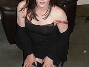 Gorgeous tgirl in nylons sucks cock