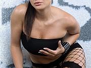 Fishnet pantyhose girl masturbating