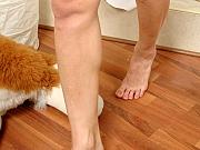 Emilia attractive nylon feet teaser