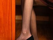 Gertie cute nylon feet teaser