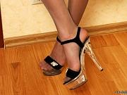Marion kinky nylon feet teaser