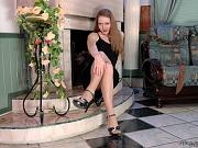 Elena frisky nylon feet teaser