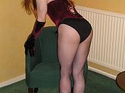 Sexy tranny slut in black panties
