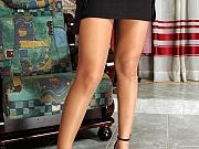 Misty attractive nylon feet teaser