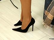 Linda horny nylon feet teaser