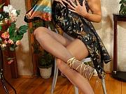 Elvira sexy nylon feet teaser
