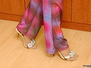 Linda pretty nylon feet teaser