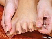 Clare sexy nylon feet teaser