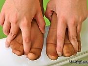 Bella awesome nylon feet teaser