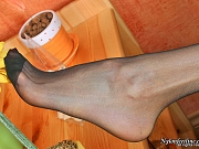 Elena attractive nylon feet teaser