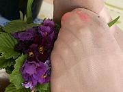 Margo playful nylon feet teaser