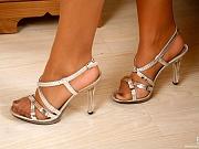 Vanessa attractive nylon feet teaser