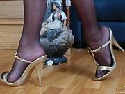Margo frisky nylon feet teaser