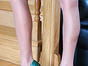 Nora nasty nylon feet teaser