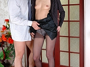 Emmie&Nicholas cool pantyhose couple
