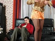 Sophia&Adam playful pantyhose couple