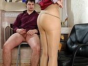 Louisa&Adam awesome pantyhose couple