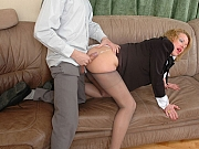Alice&Mike pantyhose clad couple