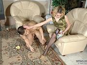 Ninette&Nathan playful pantyhose couple