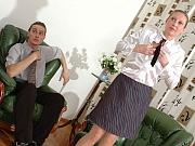 Rosaline&Mike frisky pantyhose couple