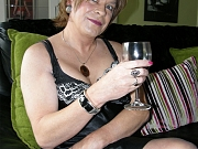 Drunk tgirl in sexy black nylons