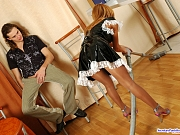 Alice&Mike awesome office pantyhose sex