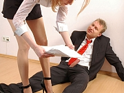 Ninette&Adrian awesome office pantyhose sex