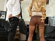 Florence&Lesley nasty office pantyhose sex