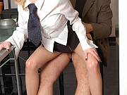 Ninette&Lesley office pantyhose games