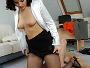 Amelia&Peter raunchy office pantyhose sex