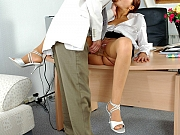 Jozy&Mike naughty office pantyhose sex