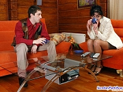Elsa&Rudolf naughty office pantyhose sex
