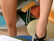 Mary perfect office pantyhose girl