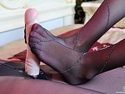 Russian lesbian foot worshippers enjoy hot strapon sex