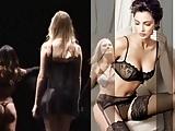 Sweet beauties in black lingerie