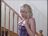 Beautiful Olivia Saint in stockings and lingerie sucks off two big dick guys