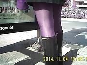 Shiny Black Pantyhose Girls