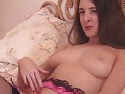 British slut Rose tells you how to wank in stockings