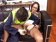 British Slut Carla in Brown FF Stockings