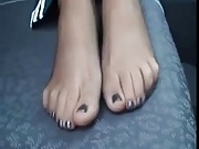 Toes in Sheer Black Pantyhose