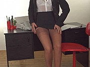 Mature business woman in ff stockings and high heels