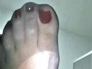 So sexy black pantyhose nylon feet perfect toes