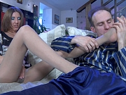 Madeleine&Peter B hot nylon feet movie